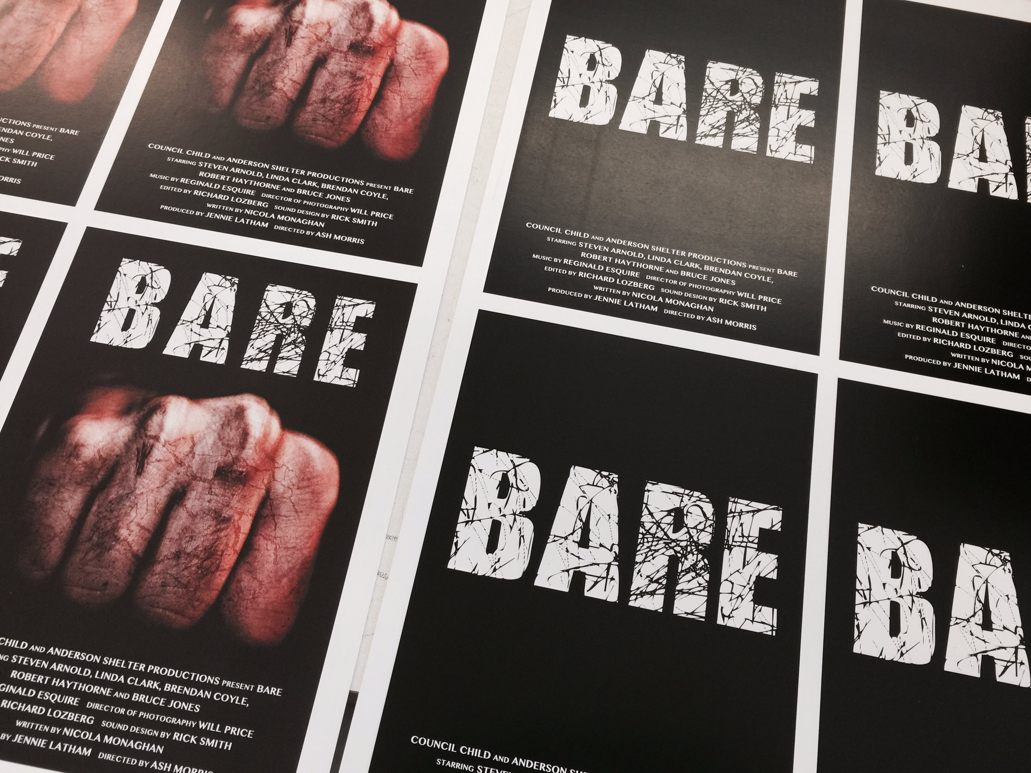 Posters hot off the press